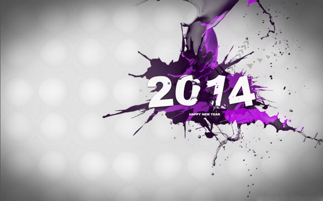 2014 Happy New Year / Цифры
