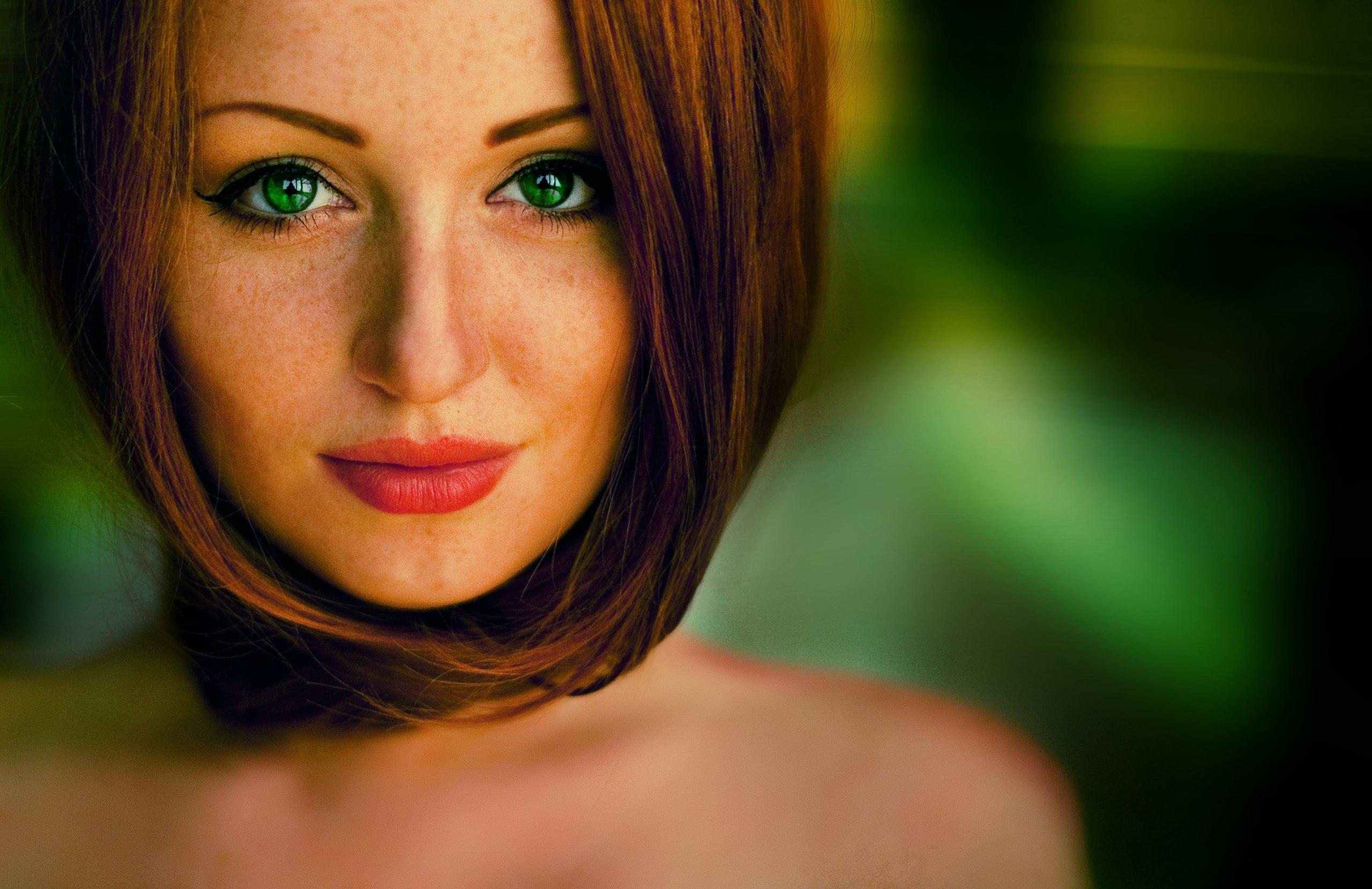 Фото красивых девушек с рыжими волосами и зелеными глазами 12 фотография