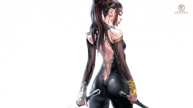 Девушка с двумя мечами