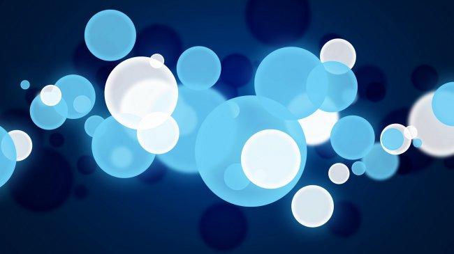 Голубые и белые круги
