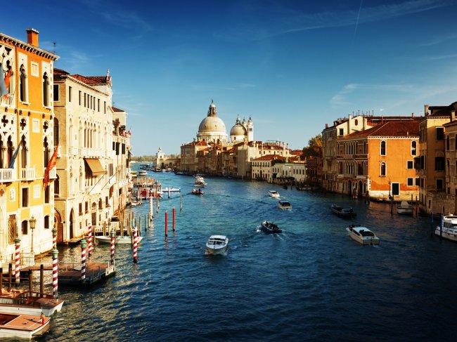 Вид на Гранд-канал, Италия, Венеция