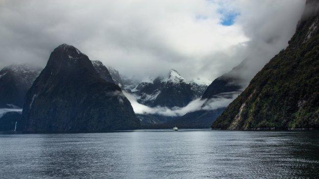 Национальный парк Фьордлен в Новай Зеландии