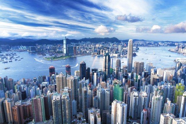 Гонконг городской пейзаж