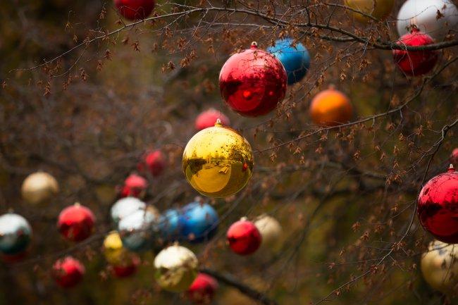 Разноцветные новогодние шары