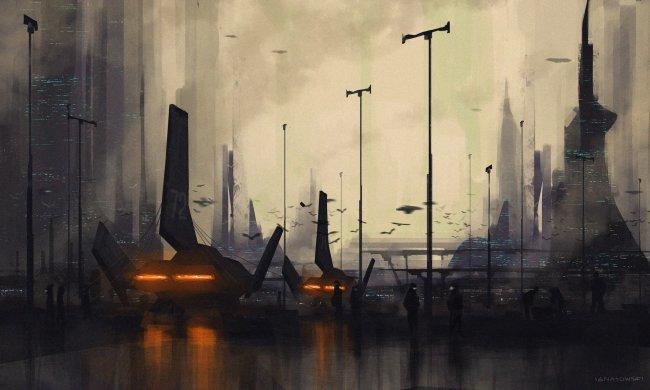 Город в пыли