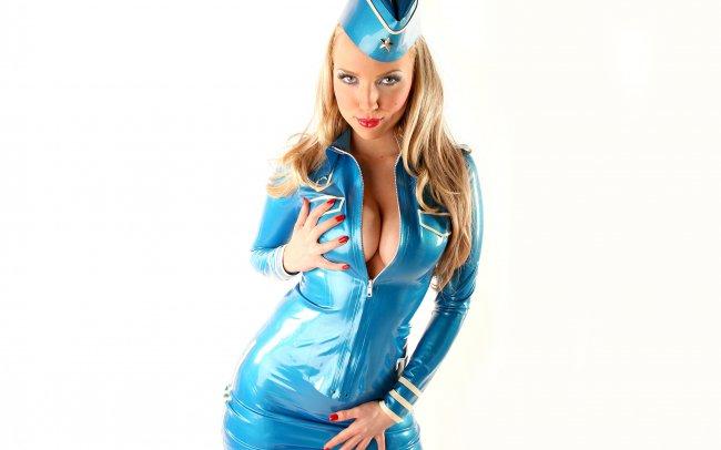 Ancilla Tilia в униформе стюардессы