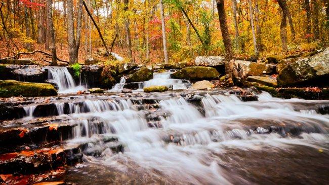 Водопад в Хибер-Спрингс