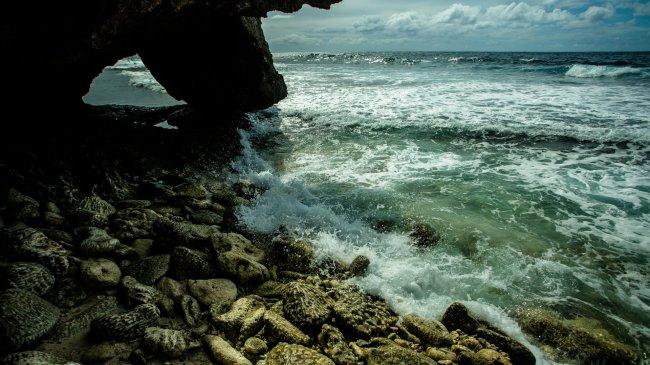 Окаменелый пляж острова Руруту