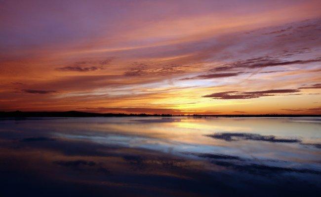 Вечерни закат на море