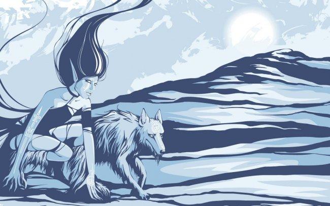 Эльфийка и волк