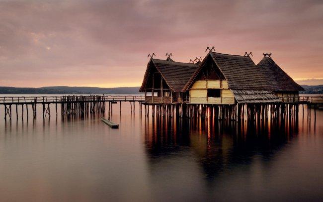 Музей на деревянных сваях в Германии