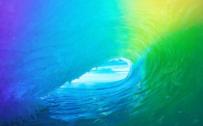 Разноцветная морская волна
