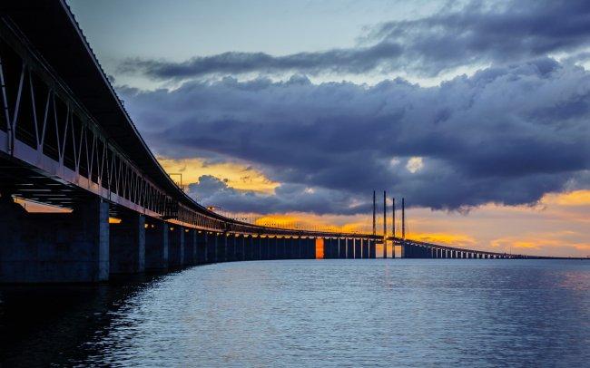 Эресуннский мост в Европе