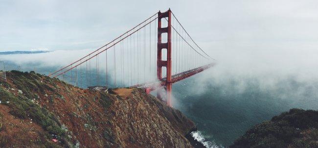 Висячий мост Золотые Ворота в Сан-Франциско