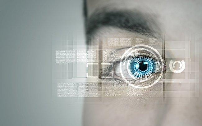Проекция изображения на сетчатку глаза