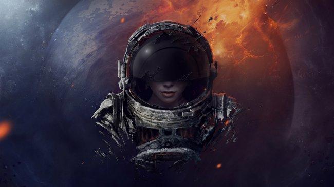 Девушка космонавт