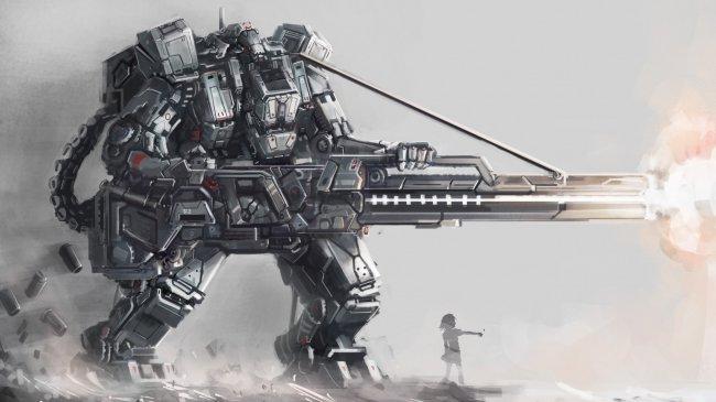 Огромный робот, управляемый девочкой