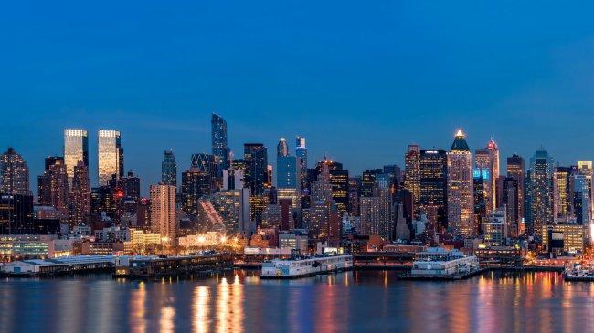 Вечерний Нью-Йорк, США