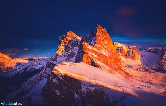 Горный массив Доломитовых Альп в Италии