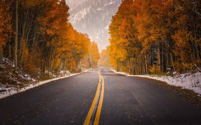 Осенняя дорога в Колорадо, США