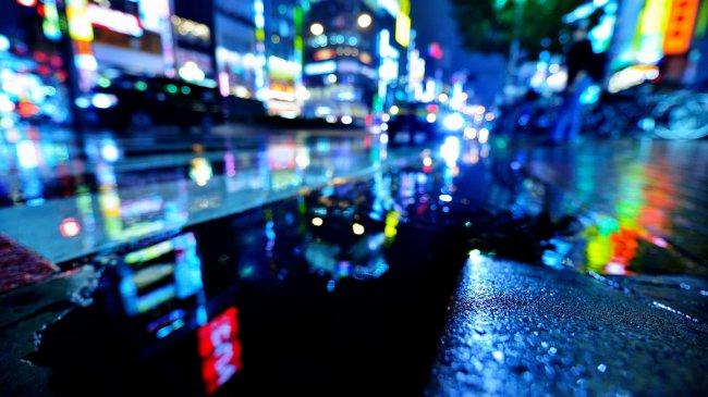 Ночная улица Токио, Япония