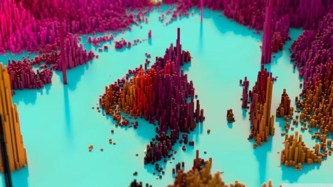 Пиксельный пейзаж