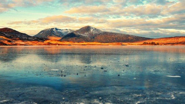 Замерзшее горное озеро