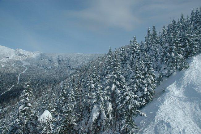 Гора Мэнсфилд покрытая снегом, штата Вермонт