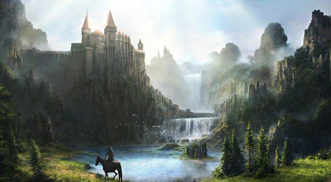 Замок над водопадом