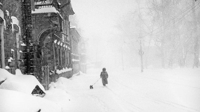 Город Томск в зимний период времени, Россия