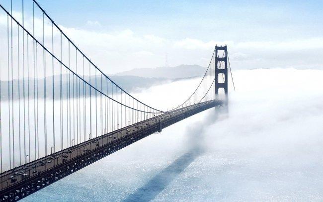 Мост Золотые Ворота в тумане, Сан-Франциско