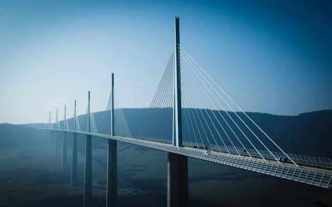 Виадук Мийо вантовый мост во Франции