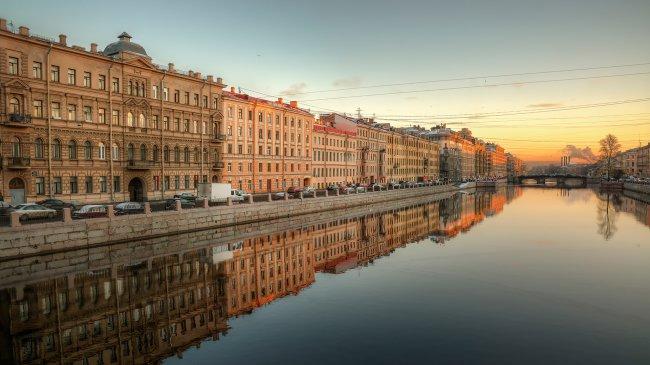 Река Фонтанка в Санкт-Петербурге