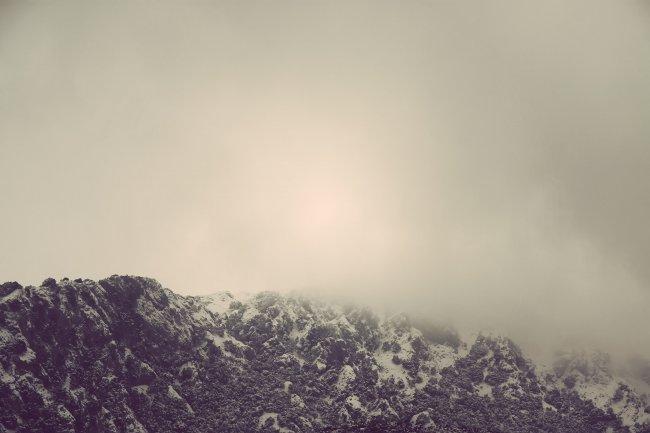 Вечерний туман в горах