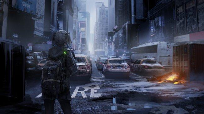 Девушка в постапокалиптическом городе