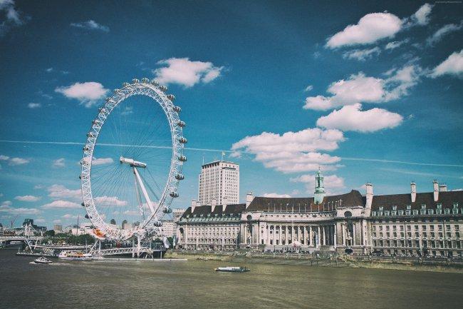 Колесо обозрения Лондонский глаз в Лондоне, Великобритания