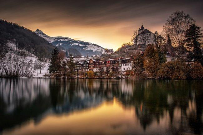 Средневековый замок Верденберг, Швейцария