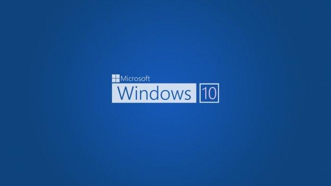 Microsoft Windows 10 Blue