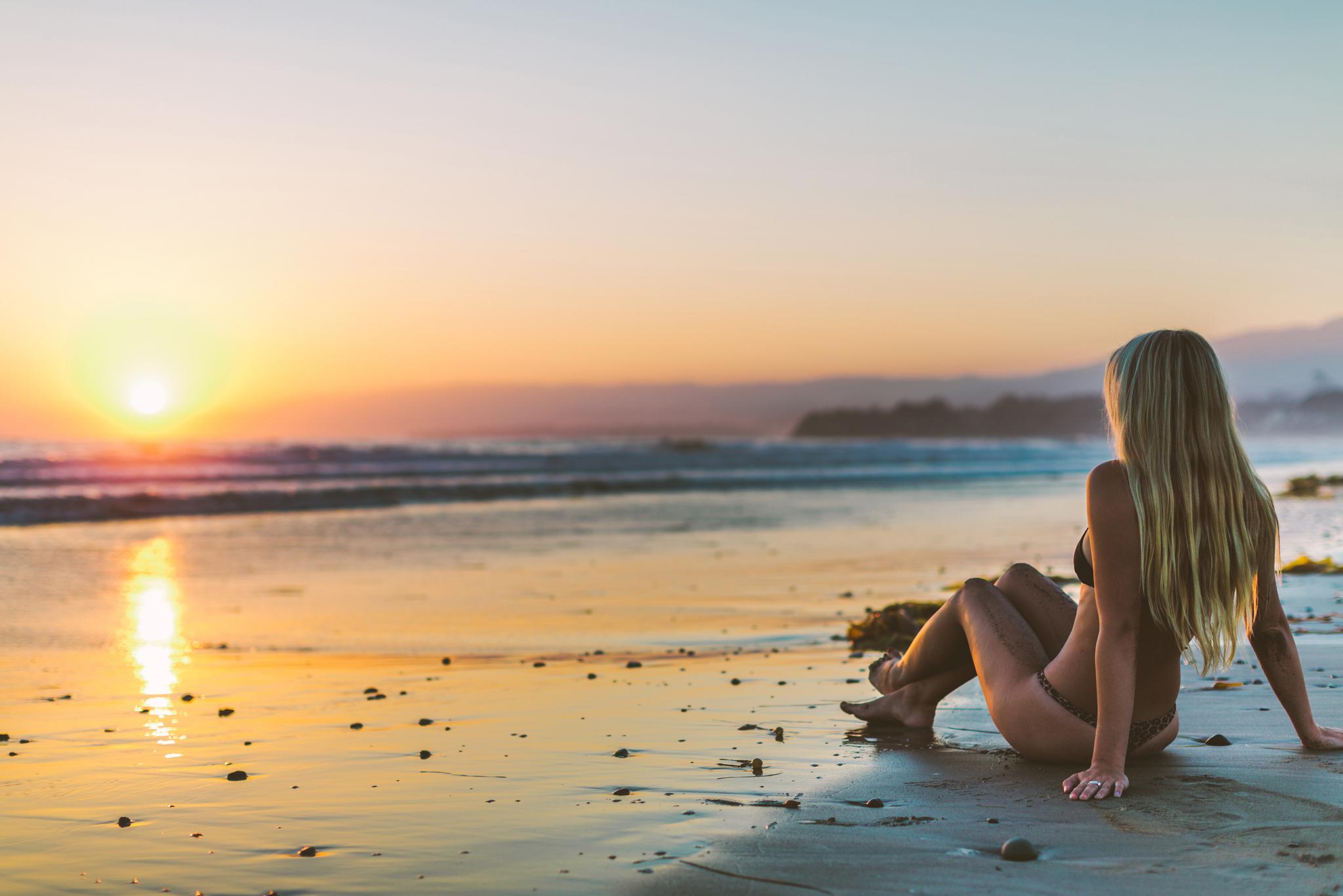 фото закат пляжная фотосессия одни первых