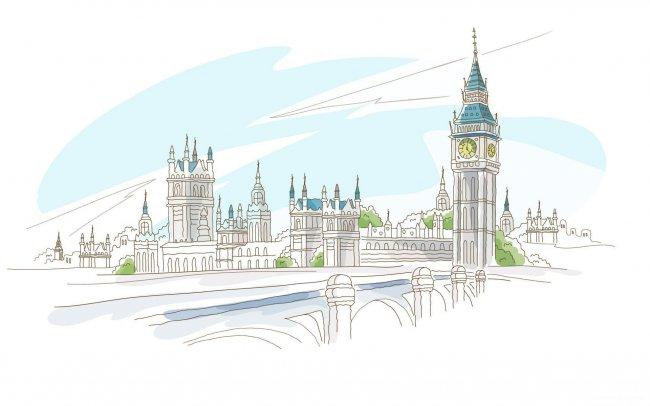 Башня Биг-Бен в Лондоне