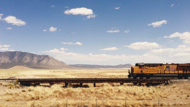 Поезд Union Pacific в Нью-Мексико