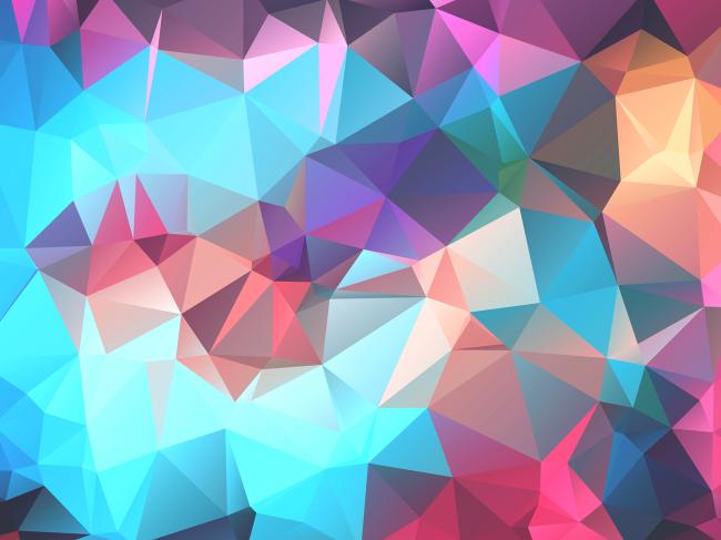 Многоугольный полигональный фон