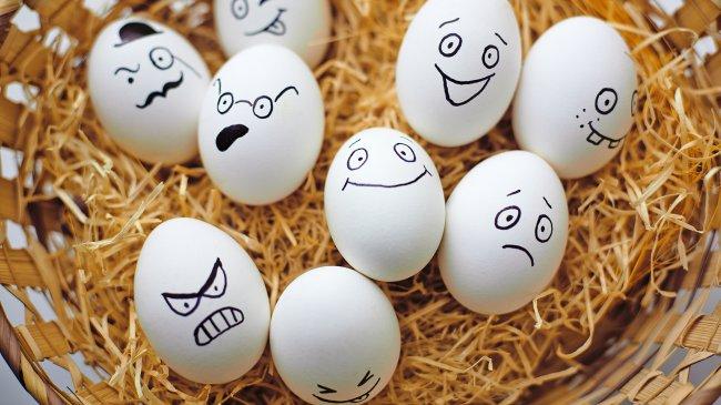 Разрисованные яйца