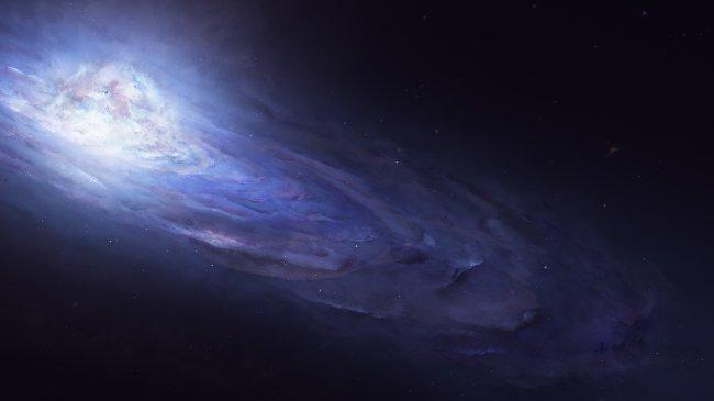 Синяя галактика