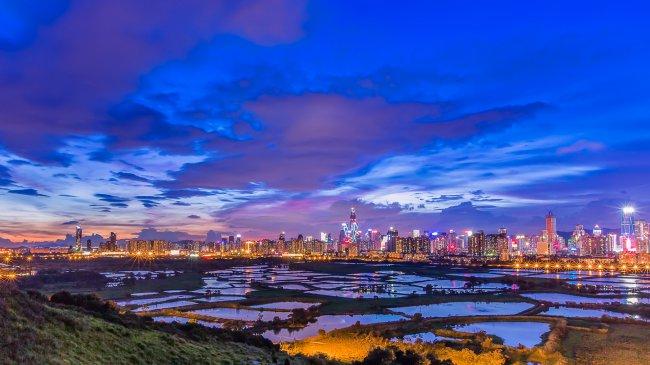 Закат в Ма Тсо Лунг, Гонконг