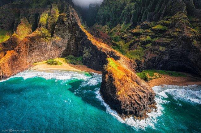 Побережье пляжа на Гавайях