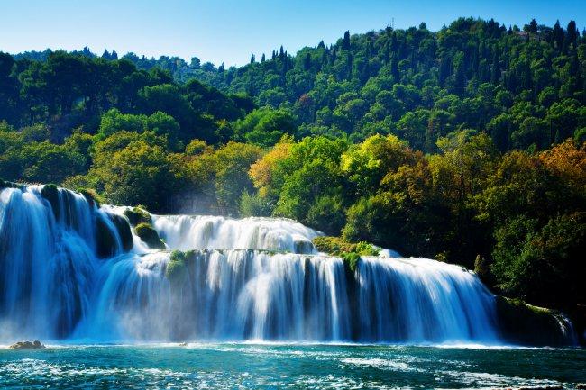 Водопад Скрадински-Бук в национальном парке Крка, Хорватия