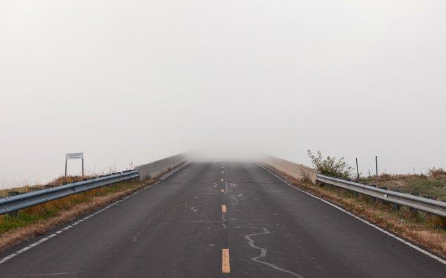 Дорога уходящая в туман