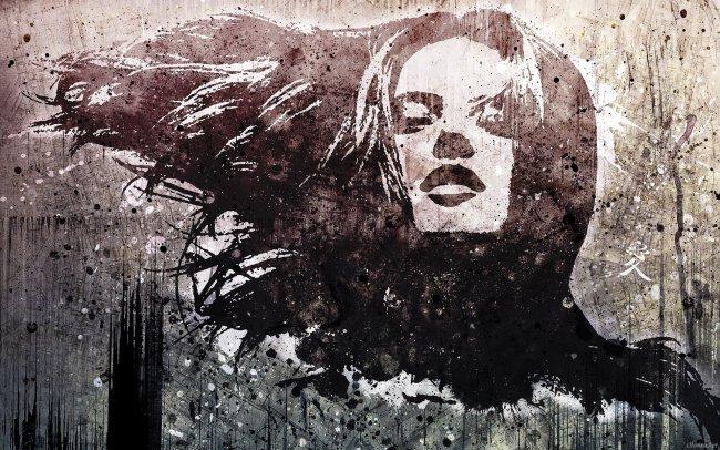 Граффити на бетонной стене