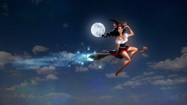 Ведьмочка на метле